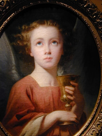 An Angel Holding a Chalice [detail #1] by Charles Zacharie Landelle